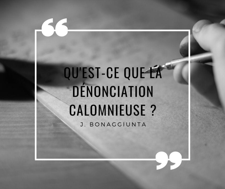 Denonciation calomnieuse